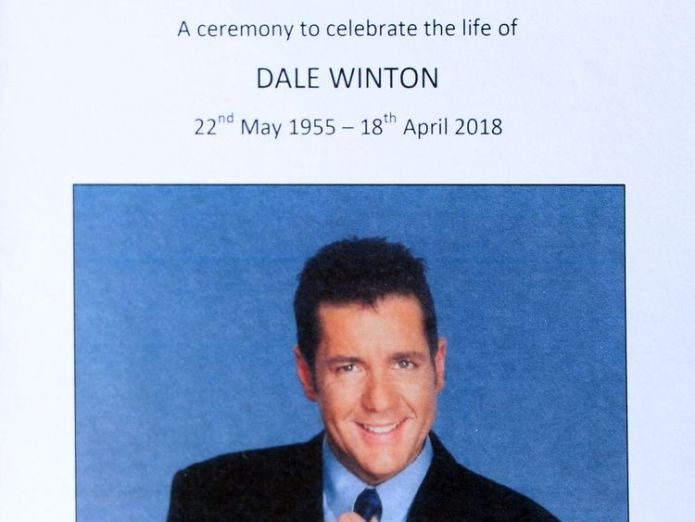The order of service for the funeral  Supermarket Sweep presenter died from natural causes, agent confirms skynews dale winton funeral 4317359