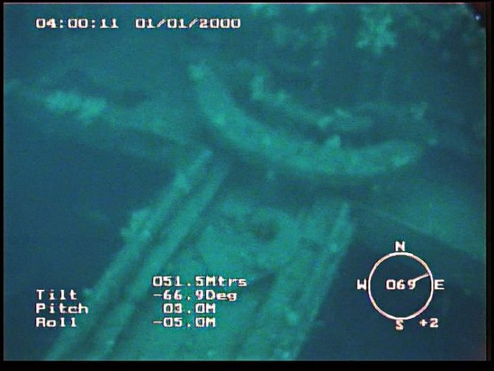 An image from the submersible Gavia shows the remains of the Empire Wold Mystery of missing WWII tug Empire Wold solved 74 years on as it is found off Iceland Mystery of missing WWII tug Empire Wold solved 74 years on as it is found off Iceland skynews empire wold tug iceland 4318375