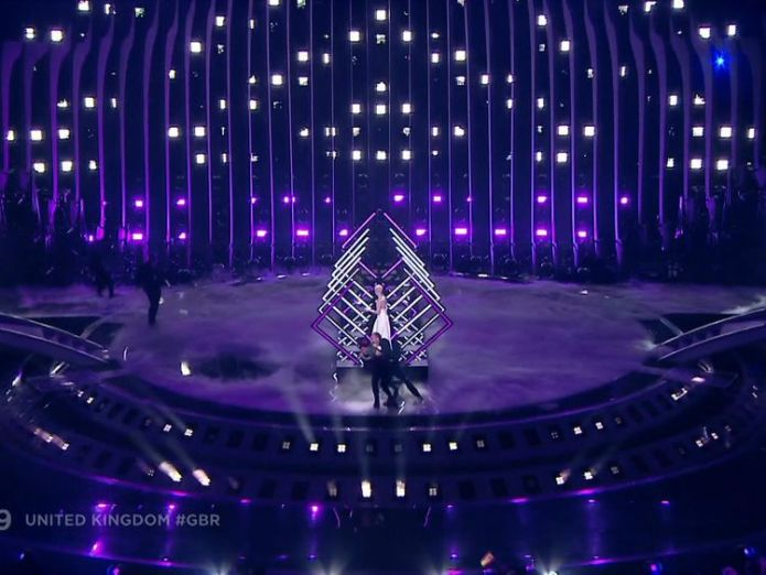 Man storms stage at eurovision