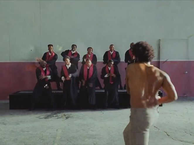 Gambino opens fire on a choir after singing and dancing with them