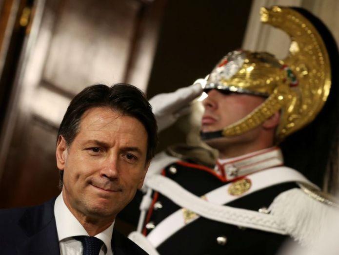 Italy's Prime Minister-designate Giuseppe Conte who is italy's likely new prime minister carlo cottarelli? Who is Italy's likely new prime minister Carlo Cottarelli? skynews giuseppe conte italy prime minister 4322586