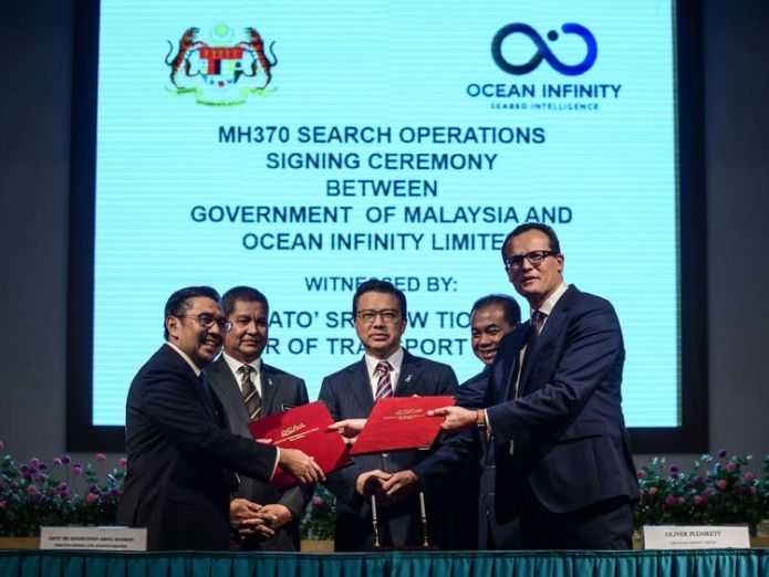 Texas-based Ocean Infinity signed a search deal with Malaysia for MH370 in January Latest search for missing MH370 ends amid hope plane will be found Latest search for missing MH370 ends amid hope plane will be found skynews mh370 ocean infinity 4323286