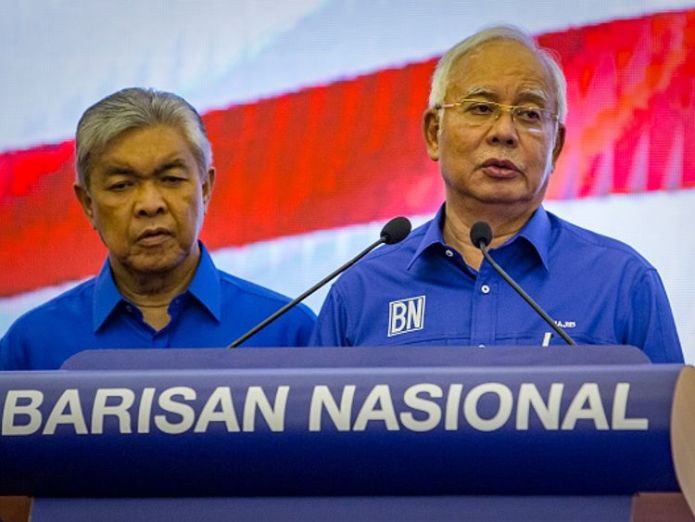 Najib Razak, right, was defeated in the election after an investment fund scandal Malaysia to swear in world's oldest leader Mahathir Mohamad, aged 92 Malaysia to swear in world's oldest leader Mahathir Mohamad, aged 92 skynews najib razak malaysia election 4305576