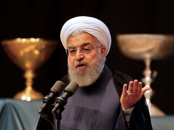 Iran's president Hassan Rouhani gives a speech in the city of Tabriz in the northwestern East-Azerbaijan province on April 25, 2018, during an event commemorating the city as the 2018 capital of Islamic tourism. (Photo by ATTA KENARE / AFP) (Photo credit should read ATTA KENARE/AFP/Getty Images) Allies dismayed as Trump pulls US out of Iran deal Allies dismayed as Trump pulls US out of Iran deal skynews rouhani iran tehran 4303666