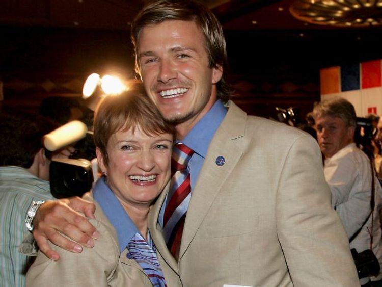 Tessa Jowell and David Beckham