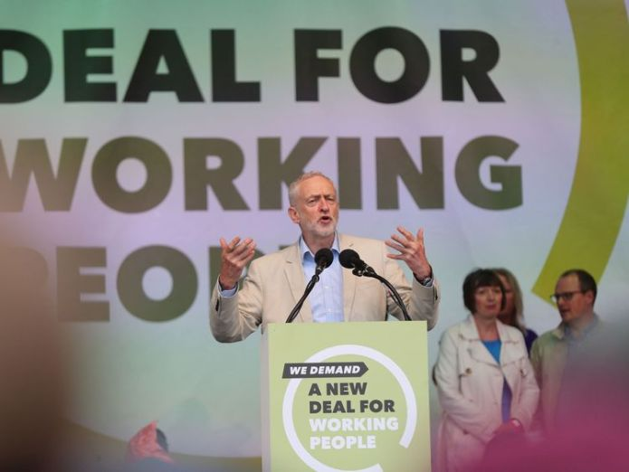 Jeremy Corbyn addressed the crowds Corbyn attends London rally amid 'worst pay squeeze for workers for 200 years' Corbyn attends London rally amid 'worst pay squeeze for workers for 200 years' skynews tuc rally jeremy corbyn 4307779