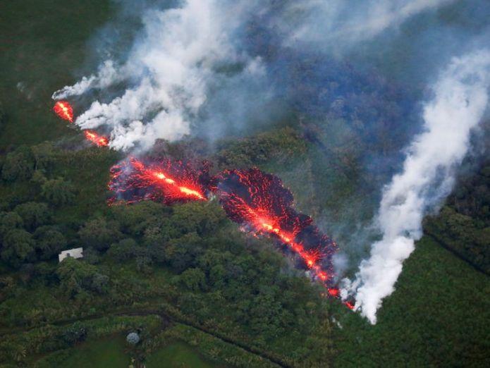 Kilauea Volcano in Hawaii Roads ripped up by rumbling Big Island Hawaii volcano Roads ripped up by rumbling Big Island Hawaii volcano skynews volcano hawaii 4312257