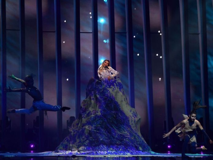 An elaborate stage prop couldn't secure Russia' place in the final Shock exit as Russia fails to make final for first time in 20 years Shock exit as Russia fails to make final for first time in 20 years skynews yulia samoyloba eurovision 4306361