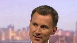 Health Secretary Jeremy Hunt Ministers step up criticism of 'irresponsible' Brexit warning from Airbus Ministers step up criticism of 'irresponsible' Brexit warning from Airbus skynews jeremy hunt health secretary 4344291