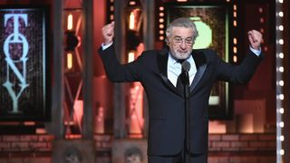 """Robert De Niro says """"F*** Trump"""" onstage during the 72nd Annual Tony Awards at Radio City Music Hall on June 10, 2018 in New York City. Trump suggests De Niro is brain damaged Trump suggests De Niro is brain damaged skynews trump robert de niro 4333302"""