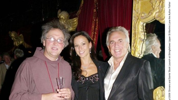 'Sinners and Saints' book launch at Stringfellows. Author Father Michael Seed with Peter Stringfellow and His Wife Bella Wright, 2009 Stringfellow on sex, Thatcher and Stephen Hawking Stringfellow on sex, Thatcher and Stephen Hawking skynews peter stringfellow 4329963
