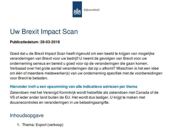 The Dutch Brexit Impact Scan warns businesses that if they use UK parts they will be taxed european businesses advised to avoid using british parts ahead of brexit European businesses advised to avoid using British parts ahead of Brexit skynews dutch brexit eu 4328924