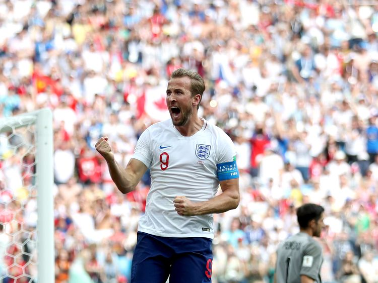 England's Harry Kane scores a penalty against Panama