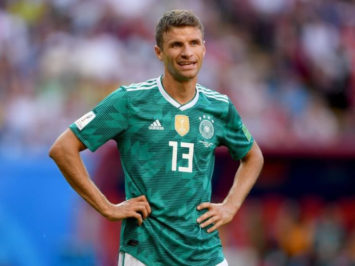Thomas Mueller of Germany Holders Germany crash out of World Cup after losing 2-0 to South Korea Holders Germany crash out of World Cup after losing 2-0 to South Korea skynews germany thomas mueller 4347175