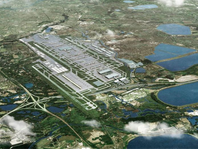 Artist's impression of how Heathrow could look with a third runway controversial heathrow expansion gets government go-ahead Controversial Heathrow expansion gets government go-ahead skynews heathrow third runway 4328749