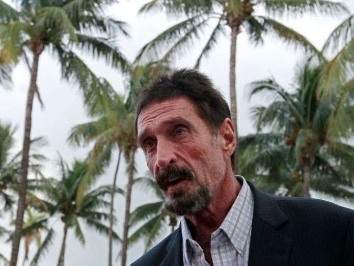 John McAfee Anti-virus software pioneer claims 'enemies' tried to kill him Anti-virus software pioneer claims 'enemies' tried to kill him skynews john mcafee computer 4343241