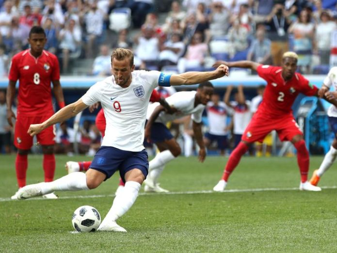 Kane scores England's second and his first Team through to knockout stage of World Cup Team through to knockout stage of World Cup skynews kane england 4344656