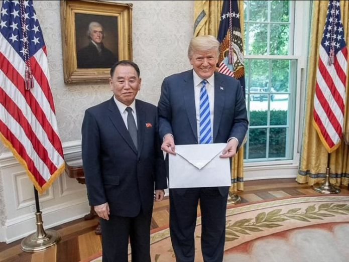 Kim Yong Chol hand delivers Kim Jong Un's letter to Donald Trump in Washington Korean popstars and younger sisters: Meet Kim's summit entourage Korean popstars and younger sisters: Meet Kim's summit entourage skynews kim jong un trump 4326161