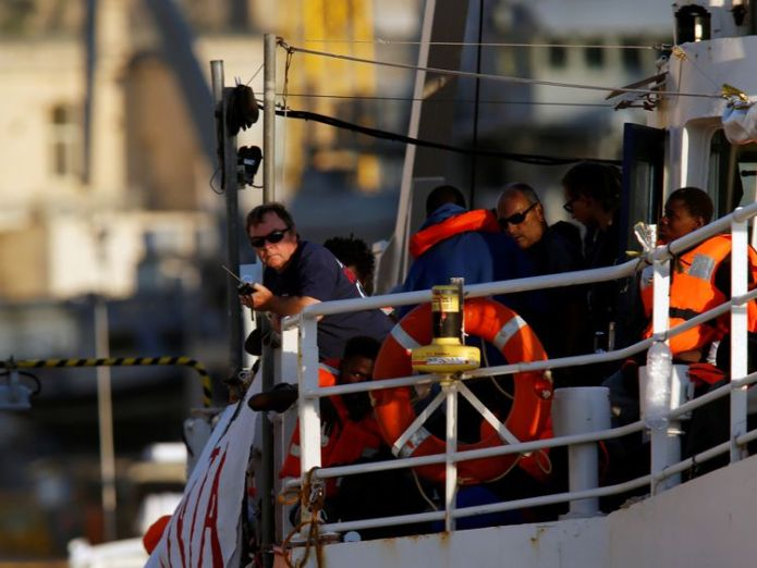 Captain Claus-Peter Reisch is seen on board the charity ship Lifeline Migrant ship docks in Malta after days of international dispute Migrant ship docks in Malta after days of international dispute skynews lifeline malta migrants 4347474