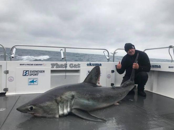 Matthew Burrett and the shark