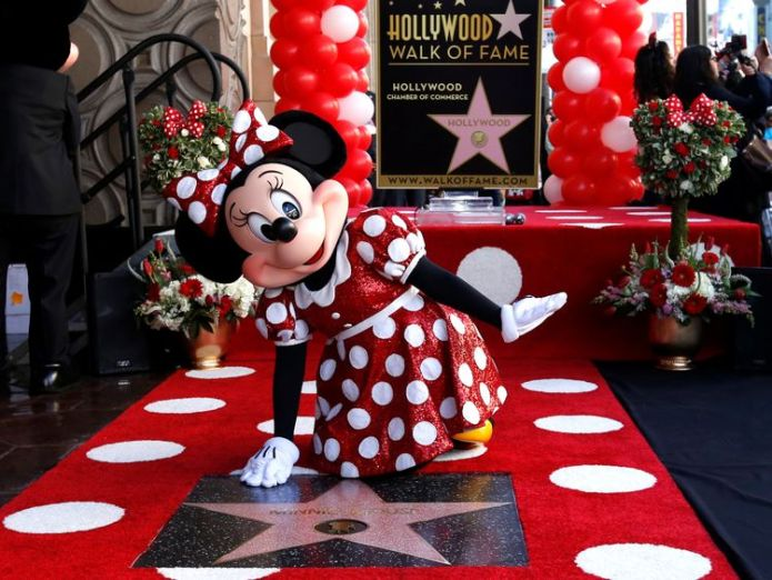 Minnie Mouse got her star on the Walk of Fame last year Jeff Goldblum gets Hollywood Walk of Fame star Jeff Goldblum gets Hollywood Walk of Fame star skynews minnie mouse star walk of fame 4336682