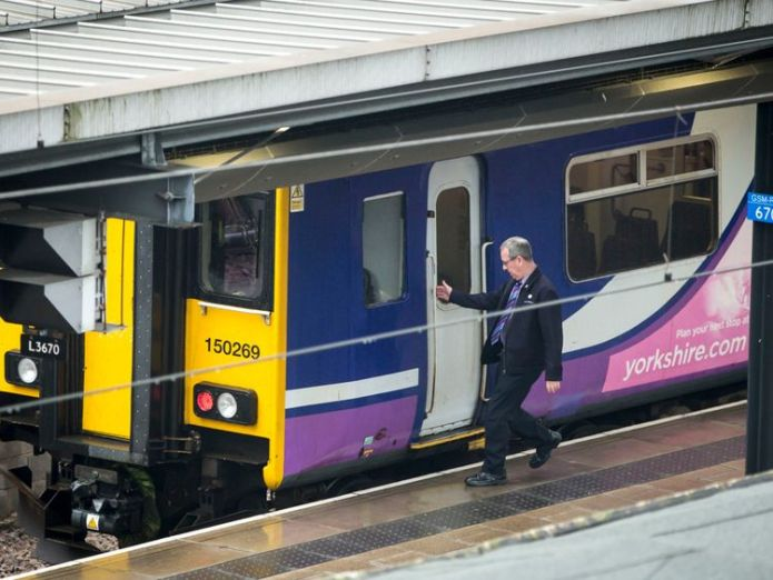 File photo dated 23/08/17 of a Northern Rail train at Leeds Railway Station Anger after Network Rail boss honoured with CBE Anger after Network Rail boss honoured with CBE skynews northern rail train 4325915