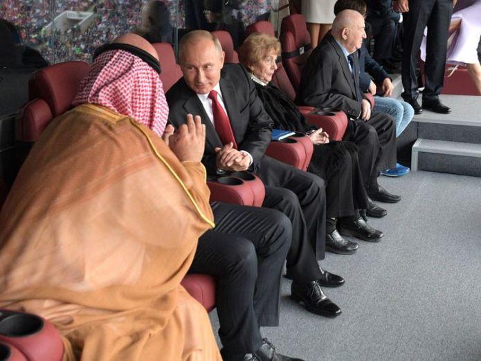 putin and salman at world cup opener When football meets global politics When football meets global politics skynews salman saudi russia 4345382
