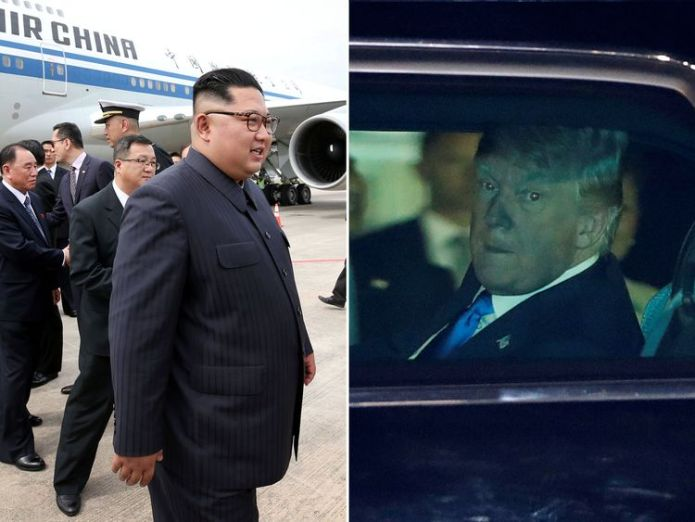 Kim Jong Un and Donald Trump have arrived in Singapore ahead of Tuesday's summit Trump meets Singapore PM ahead of N Korea talks Trump meets Singapore PM ahead of N Korea talks skynews singapore summit donald trump 4332600