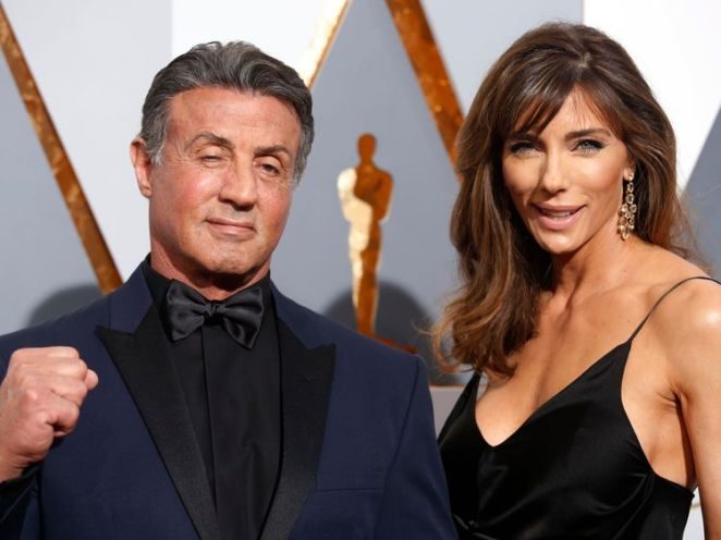 Stallone pictured with wife of over 20 years Jennifer Flavin