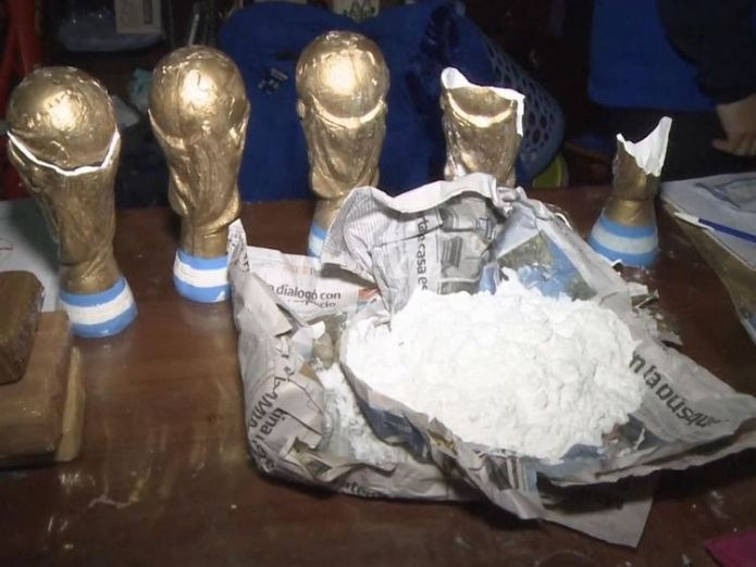 The gang used replica trophies to haul the drugs 'Merchants of death' hide cocaine in replica World Cup trophies 'Merchants of death' hide cocaine in replica World Cup trophies skynews trophies world cup 4343969