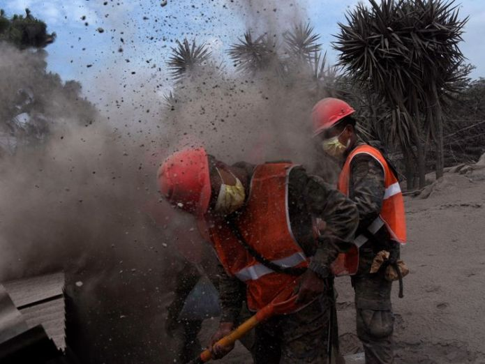 Rescue efforts are taking place in difficult conditions Chance of finding anyone alive 'practically non-existent' Chance of finding anyone alive 'practically non-existent' skynews volcano guatemala 4329817