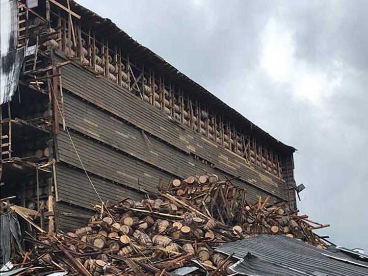 Warehouse collapse