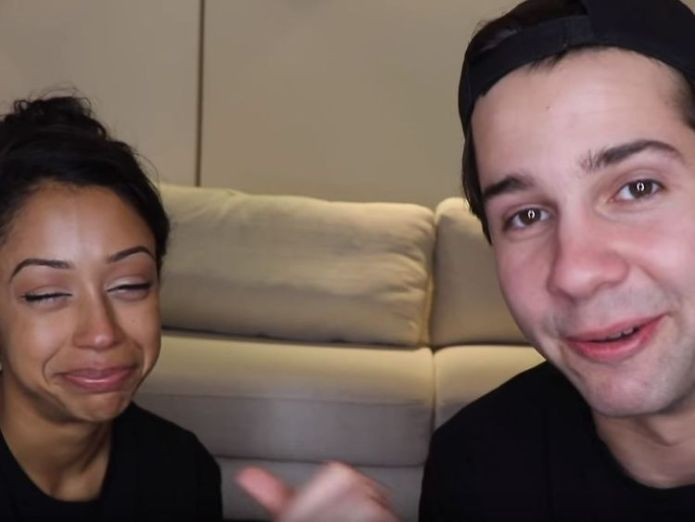 The six minute video had tears, laughter and a kiss. David Dobrik/YouTube youtube 'posh and becks' david dobrik and liza koshy announce split YouTube 'Posh and Becks' David Dobrik and Liza Koshy announce split skynews youtube david dobrik 4328742