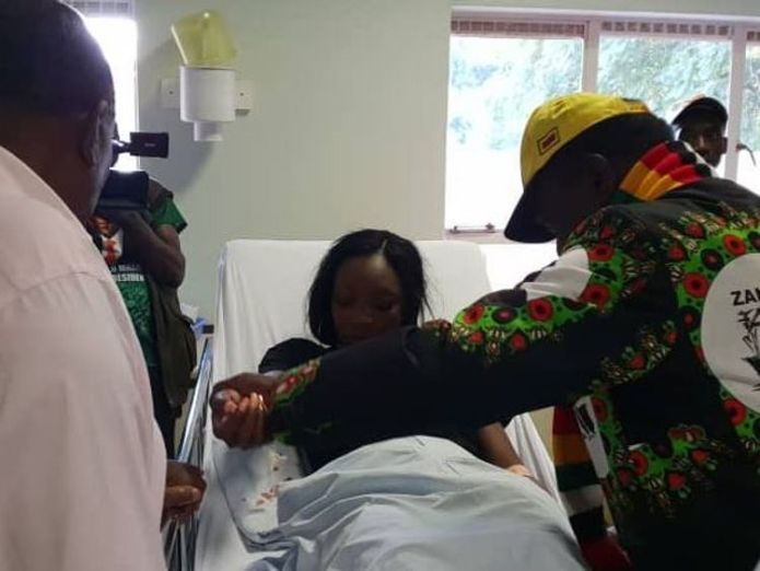 The president later visited those injured in hospital 'Assassination attempt' on Zimbabwean President Emmerson Mnangagwa 'Assassination attempt' on Zimbabwean President Emmerson Mnangagwa skynews zimbabwe president 4343736