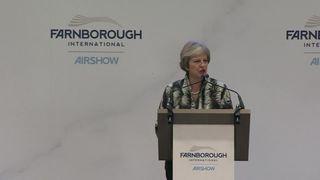 Theresa May speech at Farnborough International Airshow  Brexit cloud hanging over Farnborough Airshow 79ac46a0c89f7607c88963797f690b662540a5874e2352908a390da84f41ee8b 4363450