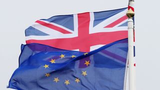 Brexit  Theresa May's Brexit plan would cost £500 per person annually skynews brexit eu flag 4359759