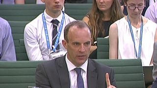 Dominic Raab reaffirms his authority over the Brexit process