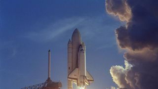 The space shuttle launches for the first time in 1981  Lift off! NASA's 'touch the sun' Parker Solar Probe mission launches skynews nasa shuttle 4373936