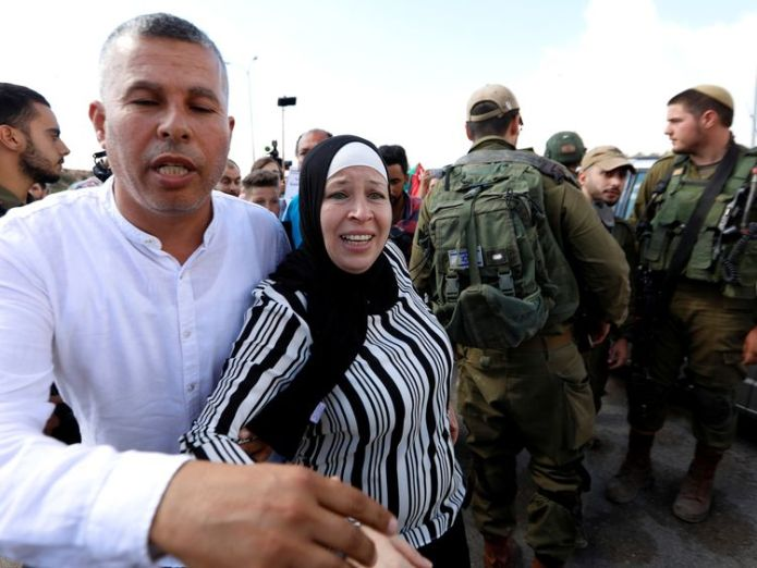 Nareman, mother of Palestinian teenager Ahed Tamimi, had also been in jail  Palestinian teenager who slapped Israeli soldier released skynews ahed tamimi tamimi 4374712