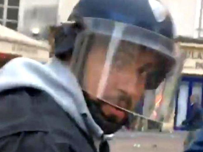 Alexandre Benalla. Pic: Taha Bouhafs  Macron fires aide Alexandre Benalla who stamped on protester skynews alexandre benalla macron security 4366665