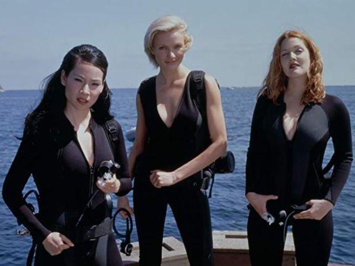 Drew Barrymore, Cameron Diaz and Lucy Liu in 200 film Charlie's Angels  Kristen Stewart to star in Charlie's Angels reboot alongside British actresses skynews drew barrymore cameron diaz 4373153