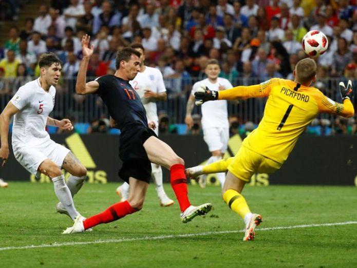 england croatia  England knocked out after semi-final loss to Croatia skynews england croatia 4359548
