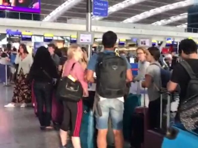 A fire alarm at the airport's air traffic control tower also caused delays