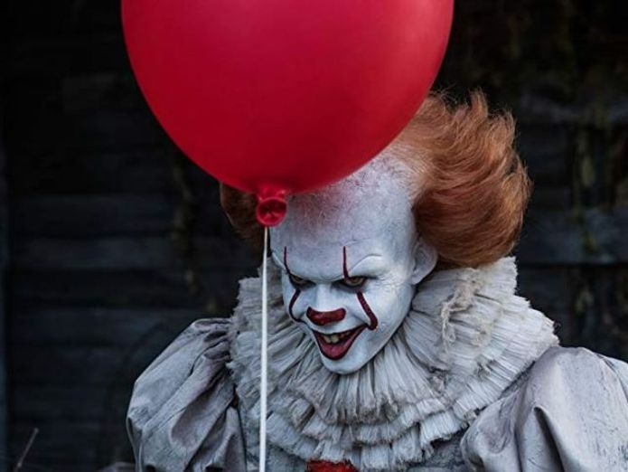 Bill Skarsgard  plays Pennywise the Dancing Clown in It  Are horror films having a Hollywood renaissance? skynews it film horror bill skarsgard 4360063