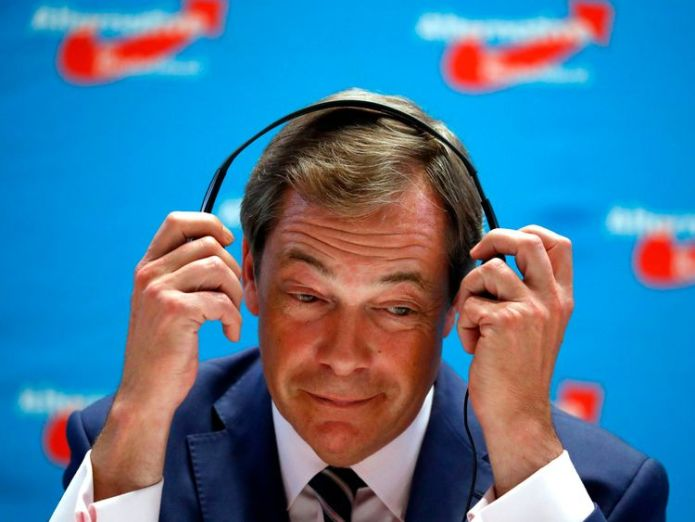 The ex-UKIP leader has been asked to drop the name of his podcast Farage Against the Machine   Rage Against The Machine send Nigel Farage legal warning over podcast skynews nigel farage rage against the machine 4359781