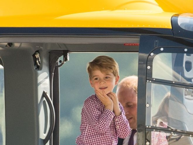 Like his father, Prince George loves flying