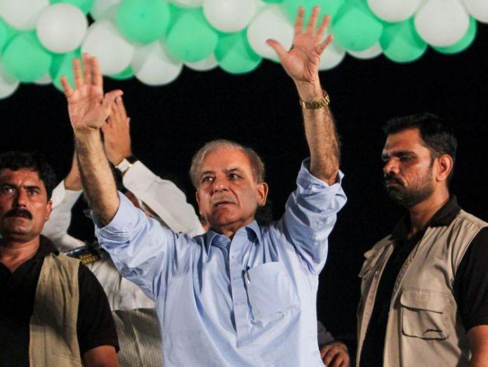 Shahbaz Sharif  Ex-cricket star Imran Khan could be prime minister skynews shahbaz sharif pakistan election 4370523