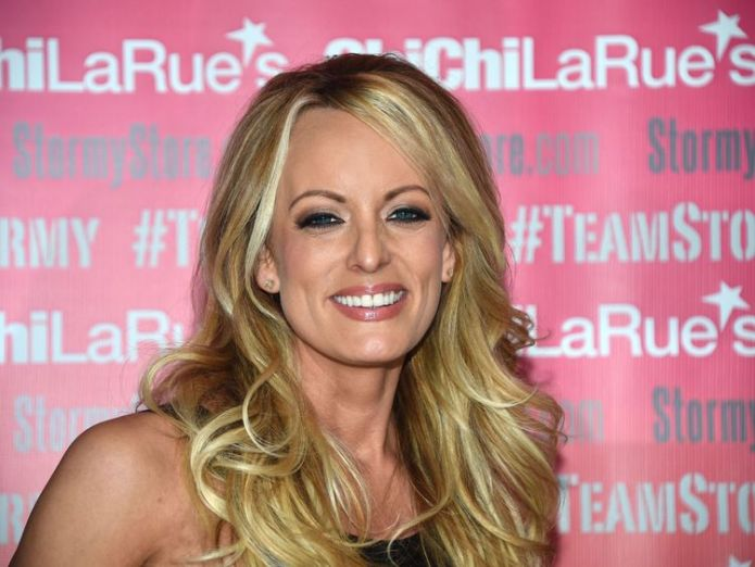 "Stormy Daniels' lawyer said they will ""vehemently contest all charges""  Trump's ex-lawyer says he arranged hush money for the president skynews stormy daniels arrested in ohio 4359661"