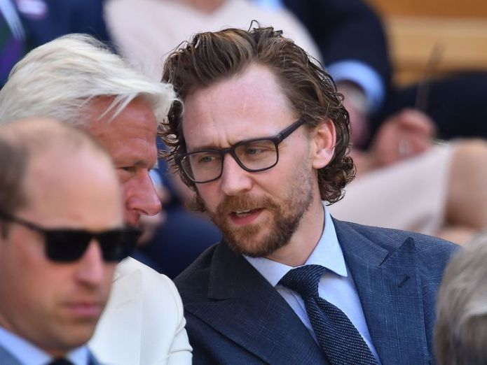 Tom Hiddleston sits in the Royal Box to watch Kevin Anderson play Novak Djokovic in the Wimbledon men's final  Djokovic defeats Anderson in straight sets to win Wimbledon skynews wimbledon final tom hiddleston 4362601