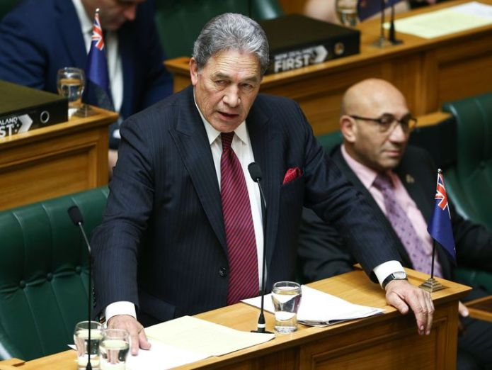Acting Prime Minister Winston Peters is against the vegan burgers being sold on the national carrier  'Bleeding' vegan burger is an 'existential threat' to beef industry, warns New Zealand MP skynews winston peters new zealand 4353805